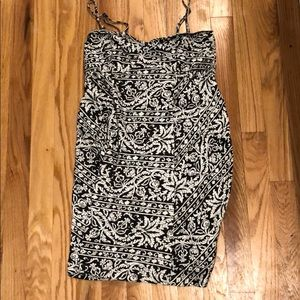 Billabong damask removable strap dress